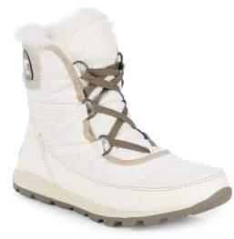 6e32d7f3c2b40 Sorel Whitney Short Faux-Fur Lace-Up Boots