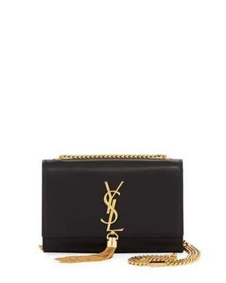 Saint Laurent Kate Monogram Smooth Leather Tassel Small Shoulder Bag with Golden Hardware
