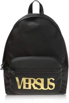 Versace Versus  Versus Black Nylon And Smooth Leather Backpack