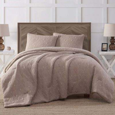 Antik Batik Ocean Wash 3-Piece Full/Queen Piece Comforter Set in Tan