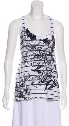 A.L.C. Sleeveless Stripe T-Shirt
