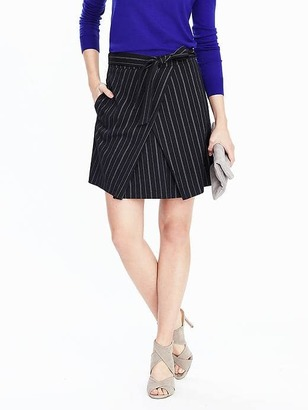 Front-Tie Pinstripe Skirt $98 thestylecure.com