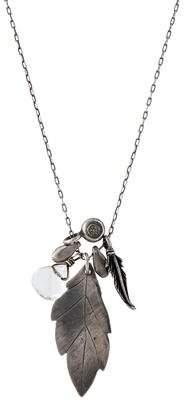 Maya Brenner Designs Crystal Leaf Pendant Necklace
