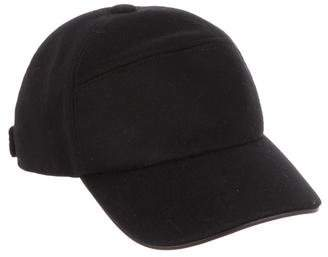 Hermes Leather-Trimmed Cashmere Cap