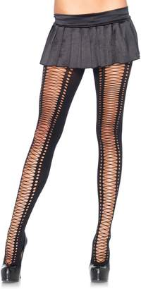 Leg Avenue Womens Spandex Faux Lace-Up Tights