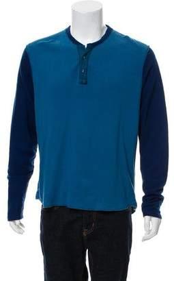 Shipley & Halmos Woven Henley Shirt