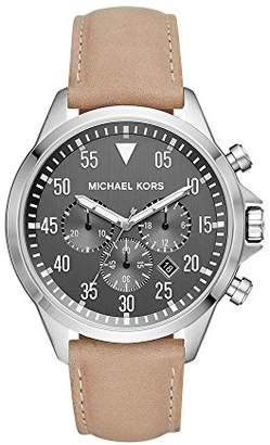 Michael Kors Men's 'Gage' Quartz Stainless Steel and Leather Casual Watch