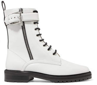 Tabitha Simmons Max Leather Ankle Boots - White