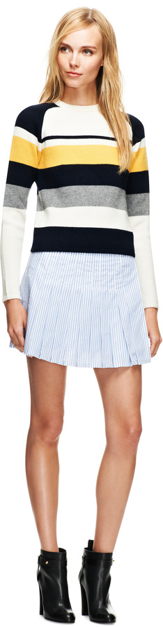 J.W.Anderson Striped Pleated Mini Skirt