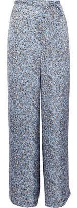 Acne Studios Printed Satin Wide-Leg Pants