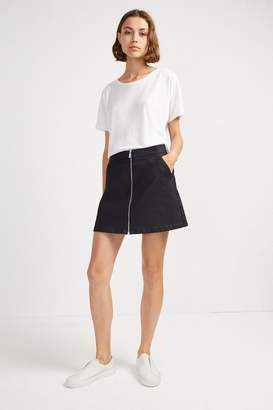 French Connenction Raise Shine Denim Mini Skirt