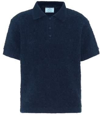 Prada Alpaca and cotton-blend shirt