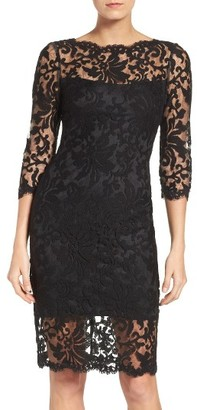Women's Tadashi Shoji Embroidered Lace Sheath Dress $268 thestylecure.com