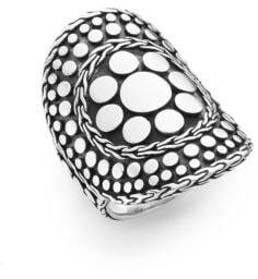 John Hardy Dot Nuansa Curved Sterling Silver Ring