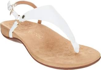Vionic Leather T-Strap Sandals - Kirra