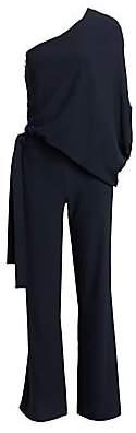 Halston Women's Asymmetric Wide Leg Jumpsuit - Size 0