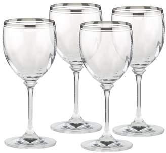 Mikasa Set of 4 Crystal Wine Glasses