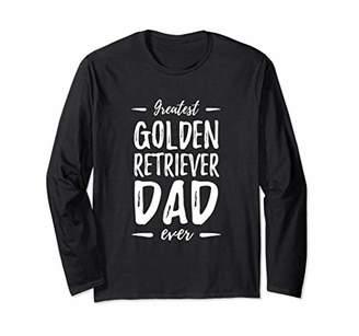 Greatest Golden Dad Long Sleeve Shirt Retriever Dog Dad Gift