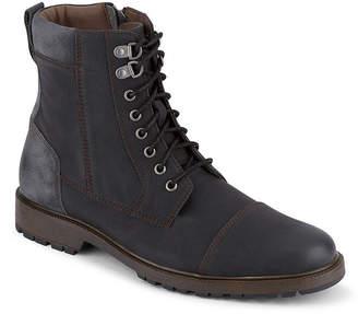 Dockers Mens Stratton Combat Boots Flat Heel