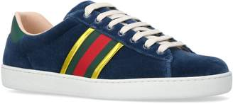 Gucci Ace Velvet Low-Top Sneakers