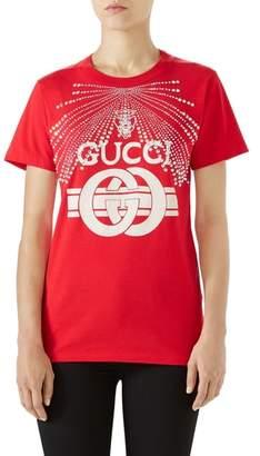 Gucci Embellished Logo Tee