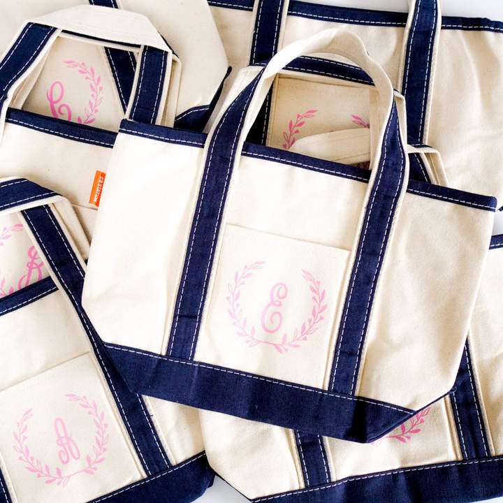 Etsy Monogrammed Easter Basket, Small Bridesmaid Gift Bag, Personalized Lunch Bag, Teacher Thank You, Can