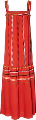 Derek Lam Embroidered Silk-Georgette Maxi Dress