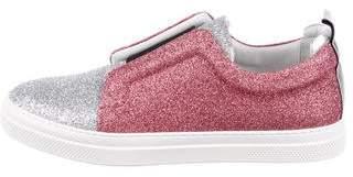 Pierre Hardy Glitter Slip-On Sneakers