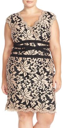 Tadashi Shoji Embroidered Lace Sheath Dress (Plus Size) $258 thestylecure.com