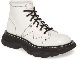 Alexander McQueen Lace-Up Lug Sole Hiker Boot