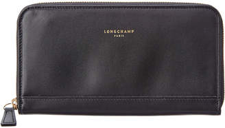 Longchamp 2.0 Leather Zip Around Wallet