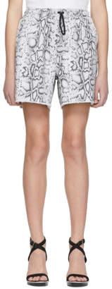 Alexander Wang Grey Denim Python Jogger Shorts