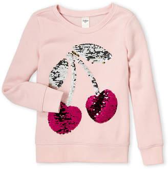 Osh Kosh B'gosh (Girls 4-6x) Pink Cherry Fleece Sweatshirt