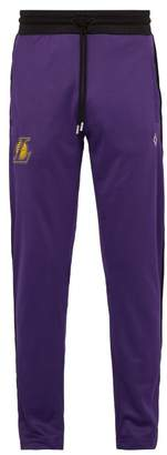 Marcelo Burlon County of Milan La Lakers Side Stripe Track Pants - Mens - Black Purple