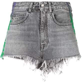 Marcelo Burlon County of Milan ripped denim shorts