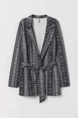 H&M Jacket with Tie Belt - Gray