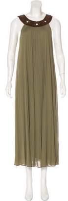 Michael Kors Sleeveless Maxi Dress Green Sleeveless Maxi Dress