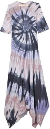 Raquel Allegra Exclusive Handkerchief Dress in Nude Feather