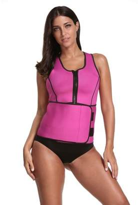 Prime Shaper Sauna Sweat 2 in 1 Tank Top with Adjustable Belt - Pink, Large