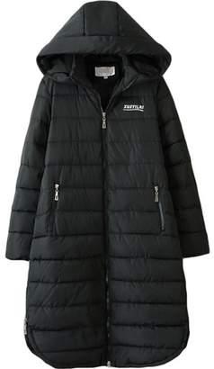 HBBCBB NEW Women Autumn Winter Long Hooded Parka Coat Cotton Padded Jacket 5XL