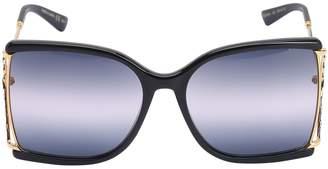 Gucci Squared Metal Sunglasses W/ Degrade Lens