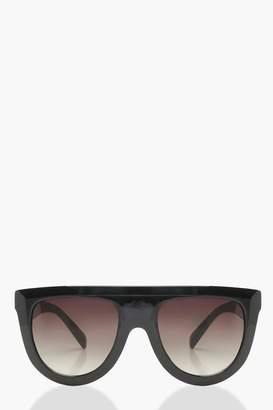 boohoo Oversized Flat Top Sunglasses