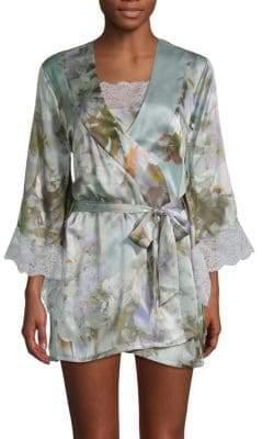 Samantha Chang Yukata Silk Floral Robe