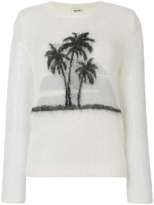 Saint Laurent palm tree print sweater