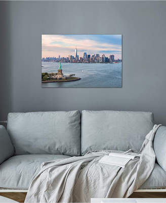"""iCanvas Statue Of Liberty, New York Harbor, Manhattan Skyline, New York City, New York, Usa"""" by Matteo Colombo Gallery-Wrapped Canvas Print (18 x 26 x 0.75)"""