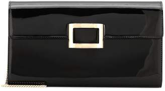 Roger Vivier Viv' Envelope patent leather clutch