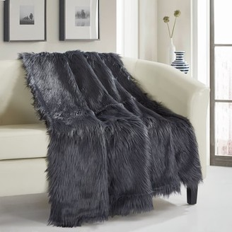 Chic Home 1 Piece Ruffa Throw Blanket Faux Fur Collection