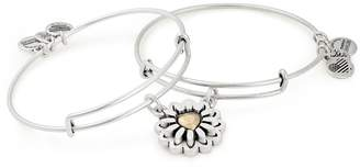 Alex and Ani You Are My Heart Set of 2 Charm Bangles