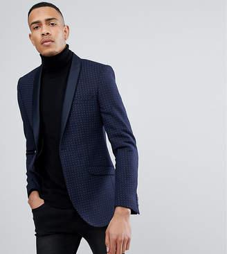 Heart & Dagger TALL Skinny Printed Wool Mix Tux Blazer