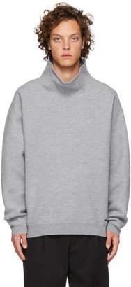 HUGO Grey Shagy Turtleneck